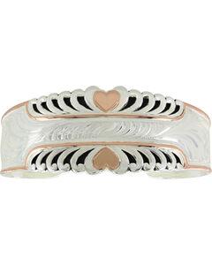 Montana Silversmiths Women's Bright Hearts Cuff Bracelet, Silver, hi-res