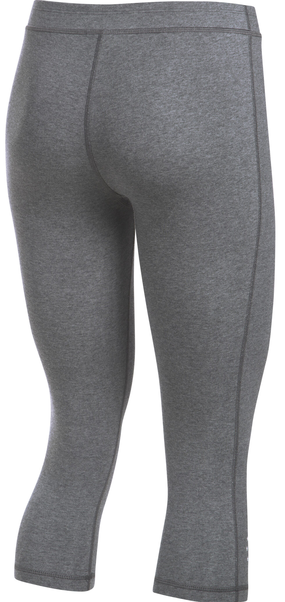 Under Armour Women's Charcoal Grey HeatGear® Training Capris, Charcoal Grey, hi-res