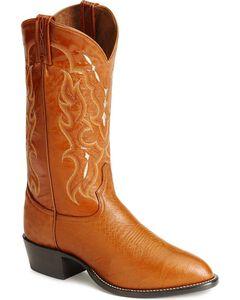 Tony Lama smooth ostrich cowboy boots, , hi-res