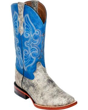 Ferrini Elephant Print Cowgirl Boots - Square Toe, Grey, hi-res