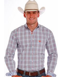 Panhandle Slim Men's Blue Crosby Vintage Ombre Plaid Shirt , , hi-res