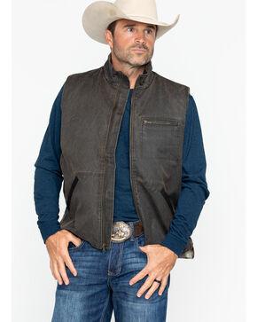 Cody James Men's Brown Dusty Zippered Vest , Brown, hi-res