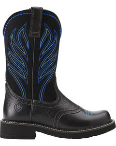 Ariat Probaby Flame Cowgirl Boots - Round Toe, Black, hi-res
