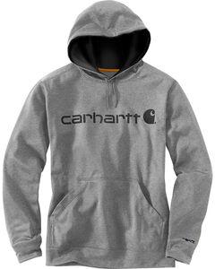 Carhartt Men's Dark Grey Extremes Signature Graphic Hooded Sweatshirt , Dark Grey, hi-res