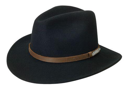 Black Creek Small Brim Crushable Wool Felt Hat, , hi-res