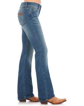 Wrangler Retro Women's Mae Mid-Rise Patch Jean - Boot Cut, Indigo, hi-res