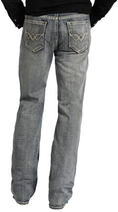 """Rock and Roll Cowboy Double Barrel Relaxed Fit Connected """"V"""" Pocket Jeans, , hi-res"""