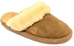 Lamo Dije California Women's Scuff Slippers , Chestnut, hi-res