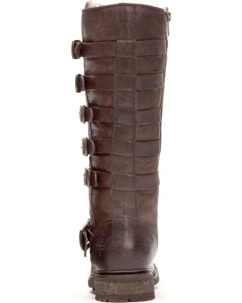 Frye Women's Dark Brown Valerie Belted Tall Shearling Boots - Round Toe , Dark Brown, hi-res