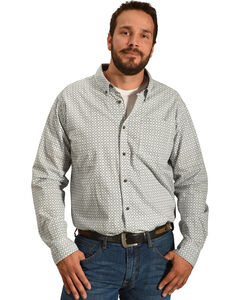 Cody James Men's Solvang Patterned Long Sleeve Shirt - Big & Tall, White, hi-res