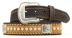 Nocona Cowboy Prayer Concho Western Belt, Brown, hi-res