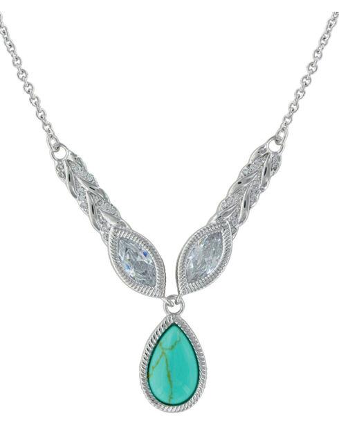Montana Silversmiths Women's Silver Woven Light Lavalier Necklace , Silver, hi-res