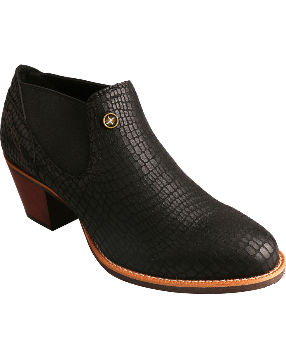 Twisted X Black Fashion Cowgirl Boots - Round Toe, Black, hi-res