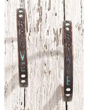 Shyanne Women's Brave Rhinestone Hoop Earrings, Silver, hi-res