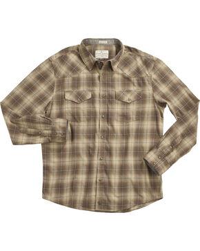 Cody James Men's Plaid Printed Long Sleeve Shirt, Tan, hi-res