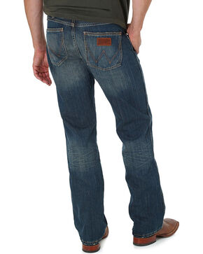 Wrangler Men's Blue Banjo Retro Jeans - Boot Cut, Blue, hi-res
