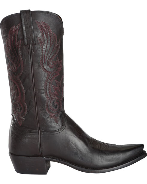 Lucchese Men's Whittaker Antique Bordeaux Mad Dog Goat Western Boots - Snip Toe, Wine, hi-res