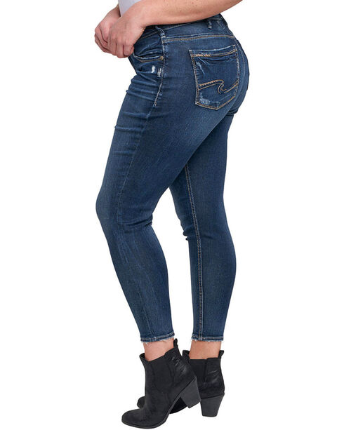 Silver Women's Avery Ankle Jeans - Plus, Indigo, hi-res