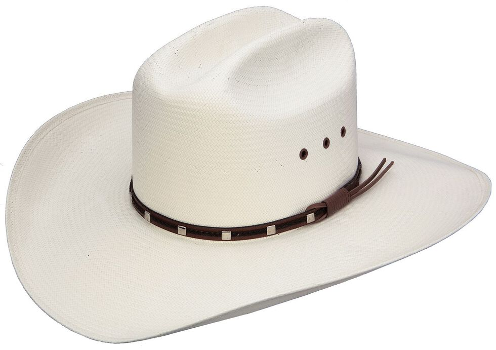 Resistol George Strait Del Rio 8X Shantung Straw Cowboy Hat, Natural, hi-res