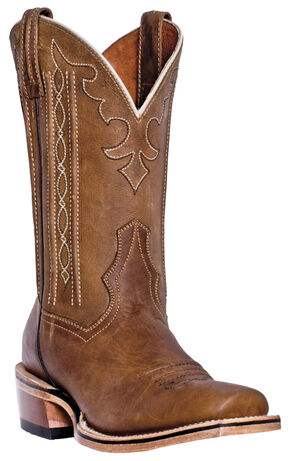Dan Post Spritzer Cowboy Boots - Square Toe , Tan, hi-res