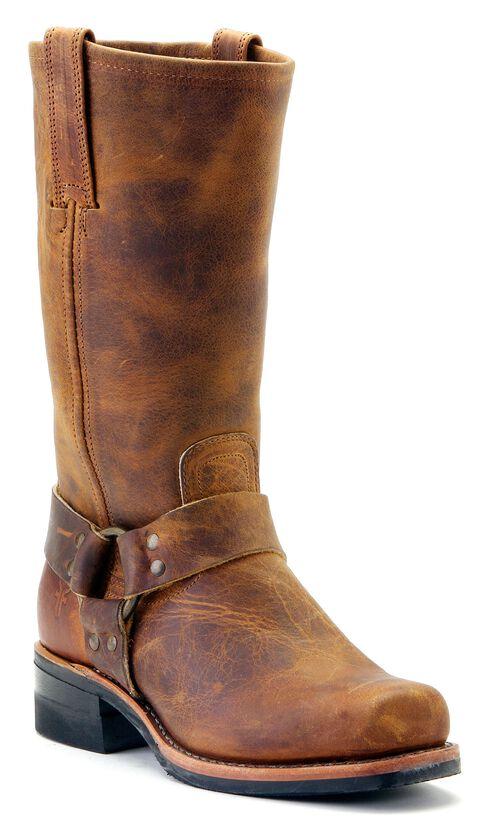 Frye Men's Harness Engineer 12R Boots - Square Toe, Dark Brown, hi-res