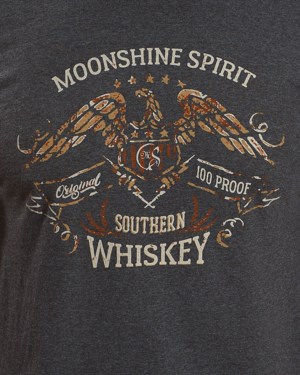 Moonshine Spirit Men's White Whiskey Graphic Tee, Black, hi-res