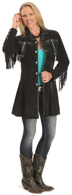 Scully Beaded Fringe Coat, , hi-res