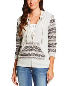Ariat Women's Greyson Hoodie , Grey, hi-res