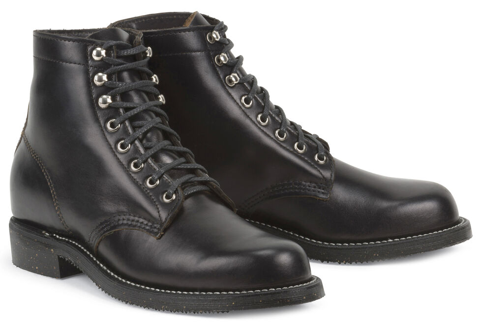 Chippewa Men's 1939 Original Service Boots - Round Toe, Black, hi-res