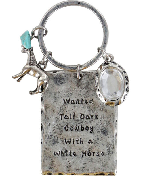 Shyanne® Women's Wanted Cowboy Keychain, Silver, hi-res