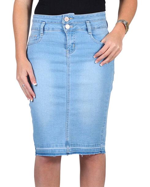Boom Boom Jeans Women's Denim Skirt, Light Blue, hi-res