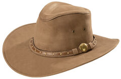Bullhide Men's Timber Mountain Top Grain Leather Hat, Brown, hi-res