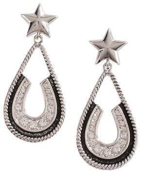 Montana Silversmiths Vintage Star Earrings, Silver, hi-res