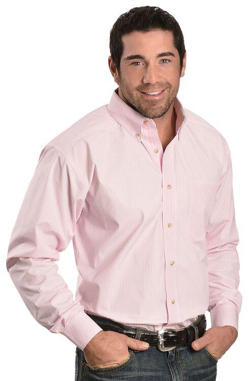Ariat Pink Balin Stripe Long Sleeve Shirt, Pink, hi-res