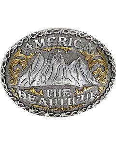 Cody James Men's America The Beautiful Belt Buckle, Silver, hi-res