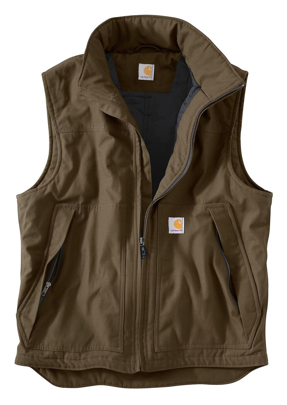 Carhartt Quick Duck Jefferson Vest, Brown, hi-res