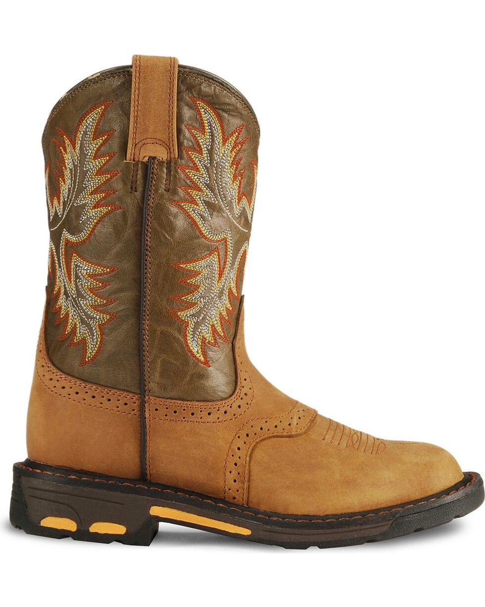 Ariat Youth Boys' Aged Bark Workhog Cowboy Boots, Aged Bark, hi-res