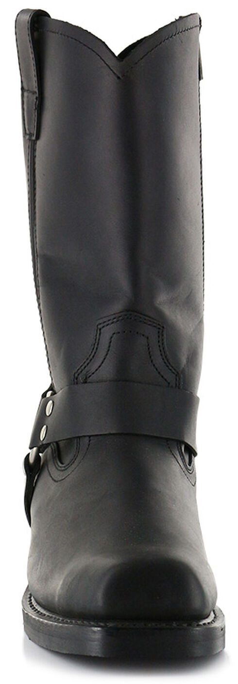 Cody James Men's Zipper Harness Motorcycle Boots - Square Toe, Black, hi-res