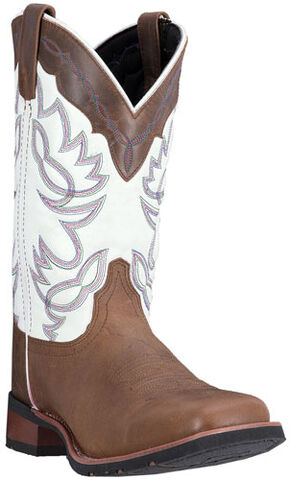 Laredo Taupe Wichita Cowboy Boots - Square Toe, Taupe, hi-res