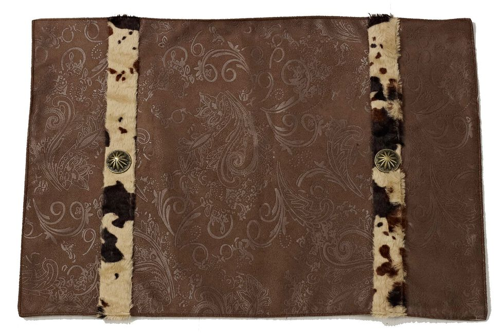 HiEnd Accents Faux Cowhide Placemats, Multi, hi-res
