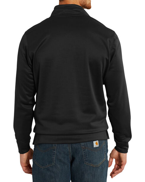 Carhartt Men's Force Extremes Mock-Neck Half-Zip Sweatshirt - Big, Black, hi-res