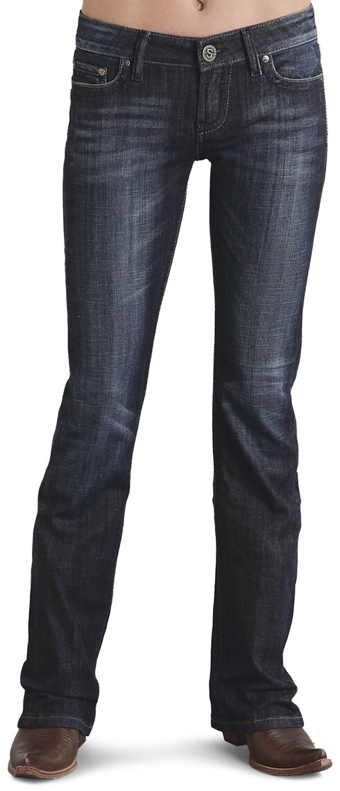 Stetson Women's 818 Fit Contemporary Rhinestone Bootcut Jeans - Plus, Denim, hi-res