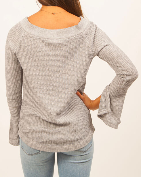 Others Follow Women's Split Sleeves Thermal, Light Blue, hi-res