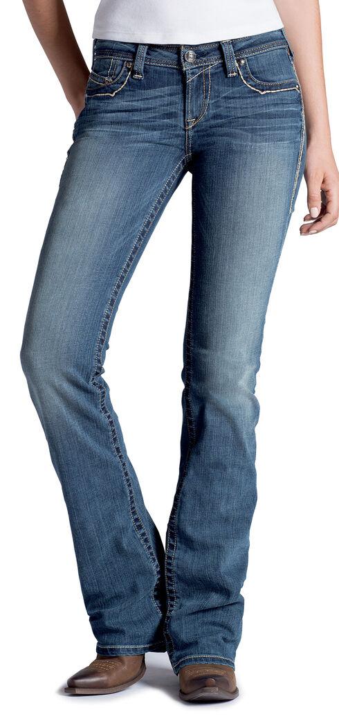 Ariat Women's Ruby Copper A Lonestar Bootcut Jeans, Denim, hi-res