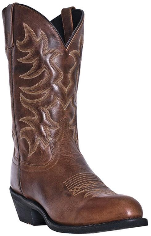 Laredo Pinehurst Cowboy Boots - Round Toe, Brown, hi-res