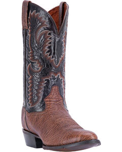 Dan Post Men's Moses Bullhide Western Boots - Round Toe, Chocolate, hi-res