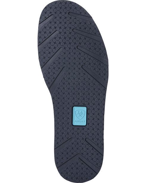 Ariat Women's Navy Eclipse Blue Zebra Cruiser Shoes - Moc Toe, Navy, hi-res