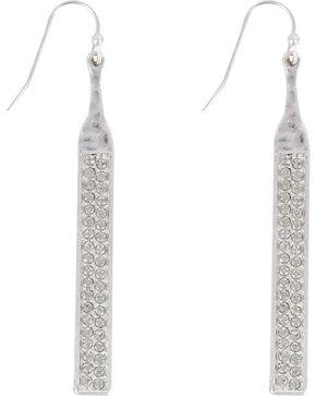 Shyanne Women's Silver Rhinestone Dangle Earrings , Silver, hi-res