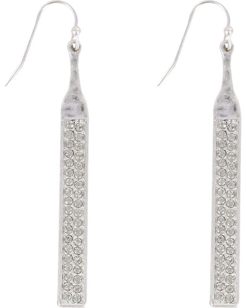 Shyanne Women's Silver Rhinestone Dangle Earrings , Silver, hi-res