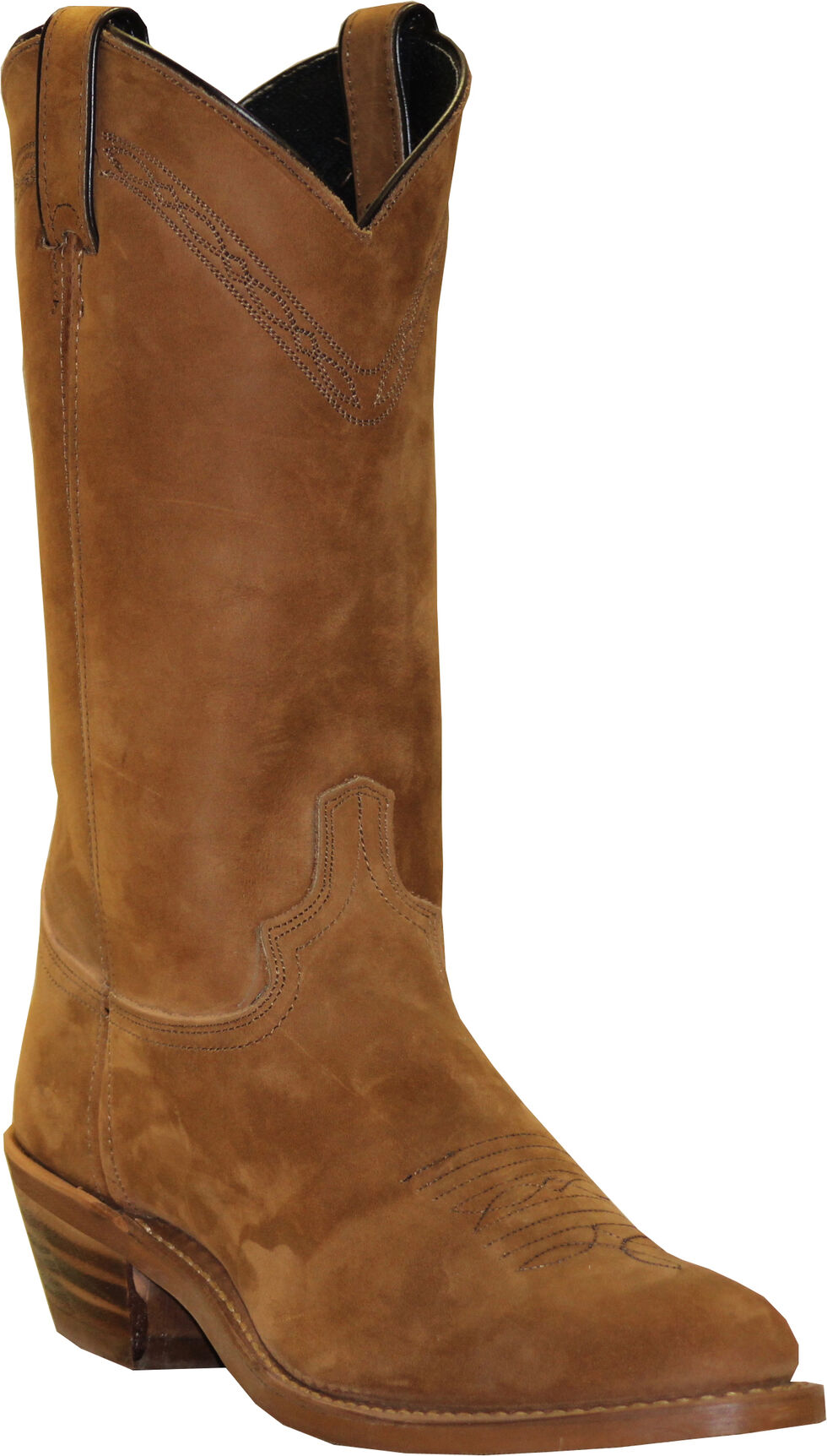 Abilene Men's Pull-On Western Boots - Square Toe, Dirty Brn, hi-res